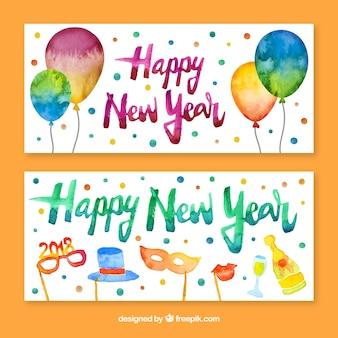 Bannières de fête du nouvel an