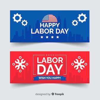 Bannières de fête du travail américaines