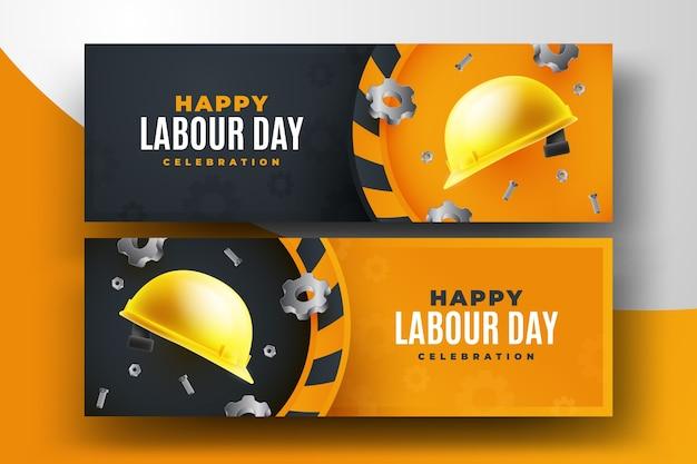 Bannières de la fête du travail