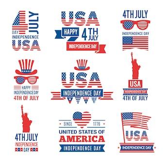 Bannières de la fête de l'indépendance américaine.