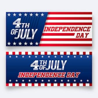 Bannières de la fête de l'indépendance
