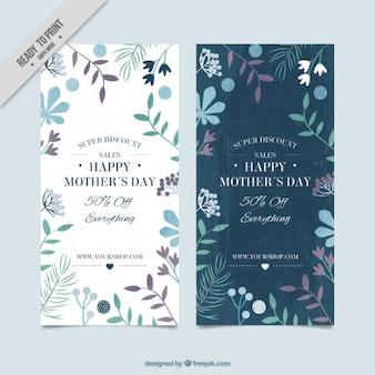Les bannières fête des mères floral