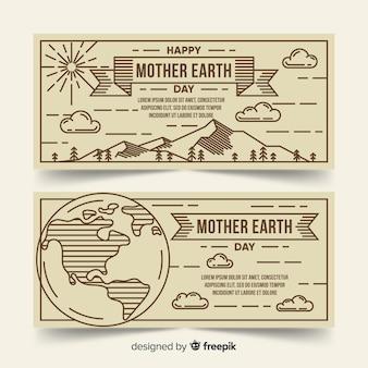 Bannières de la fête des mères