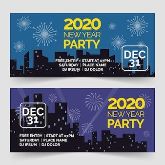 Bannières de fête de nouvel an