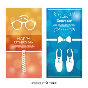 Bannières de fête des pères réalistes