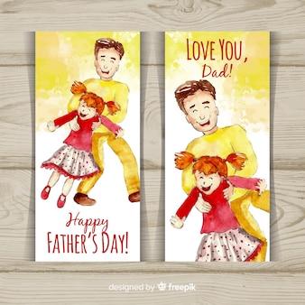 Bannières de fête des pères
