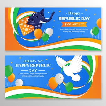 Bannières de la fête de la république