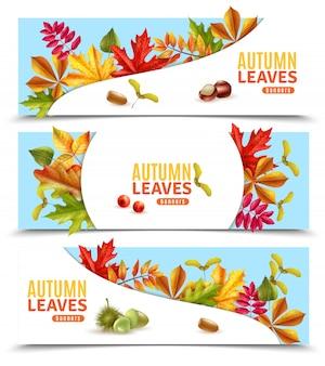 Bannières de feuilles d'automne
