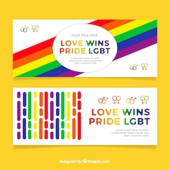 Bannières de fierté de lgtb coloré