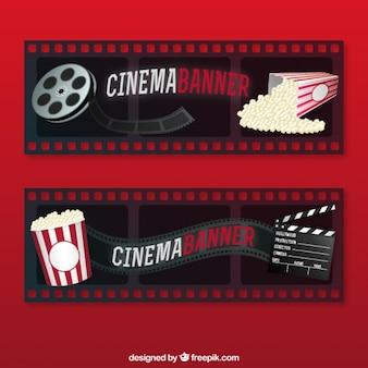 Bannières film avec le matériel de cinéma
