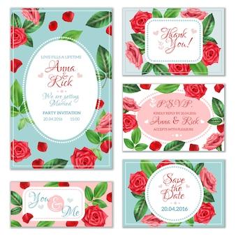 Bannières fleur rose