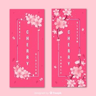 Bannières de fleurs de cerisier