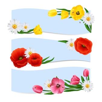 Bannières florales horizontales