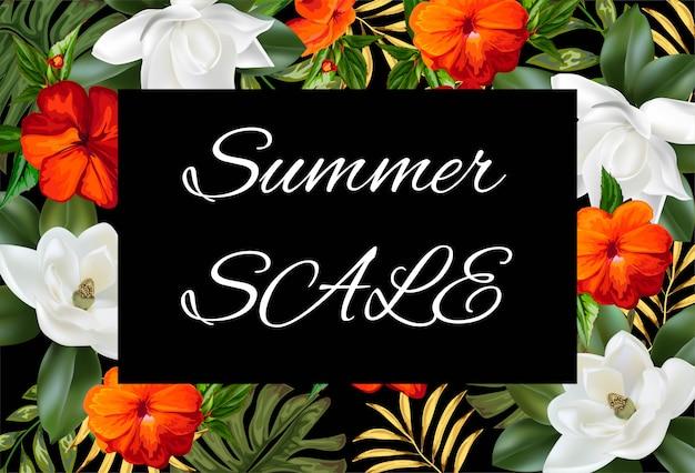 Bannières de fond de vente d'été