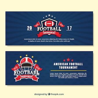 Bannières de football avec badges