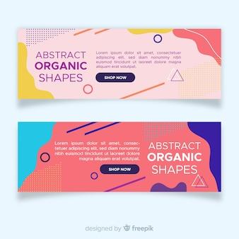 Bannières de formes organiques abstraites