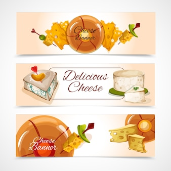 Bannières de fromage horizontal