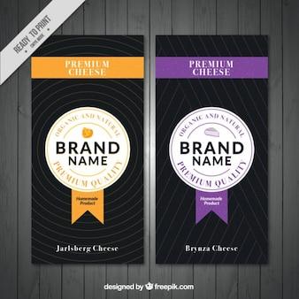 Bannières de fromage premium