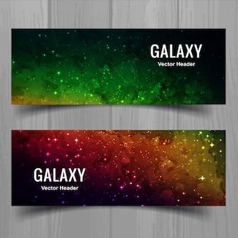 Bannières de galaxies modernes