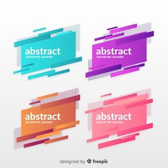 Bannières géométriques abstraites