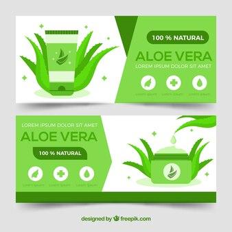 Bannières green aloe vera