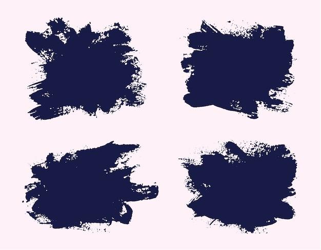 Bannières de grunge abstraites peintes à la main