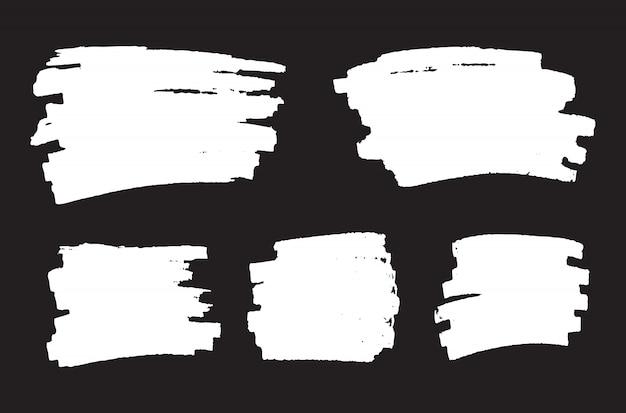 Bannières de grunge blanc abstrait