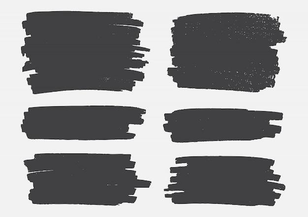 Bannières de grunge noir abstrait