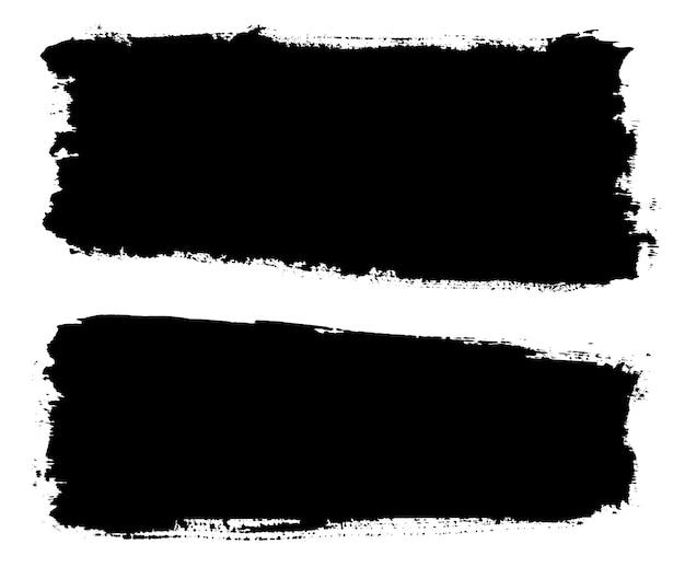 Bannières grunge noir