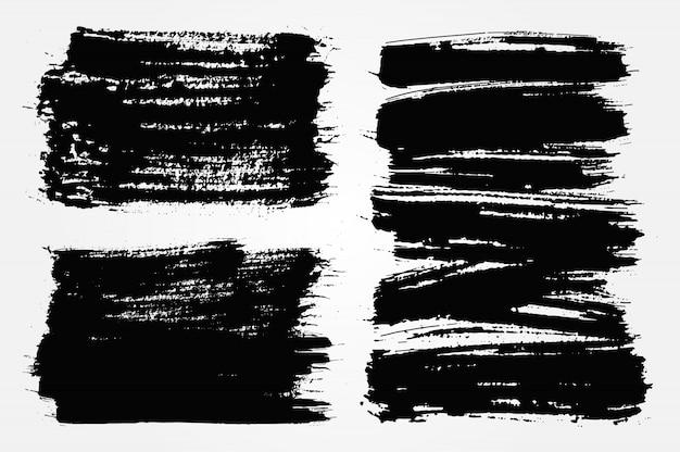 Bannières de grunge noir