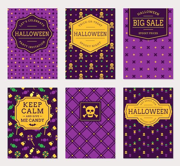 Bannières d'halloween.