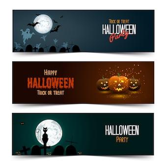 Bannières d'halloween
