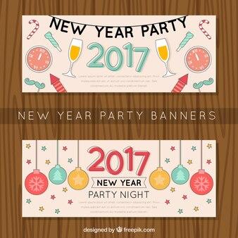 Bannières de happy new year party