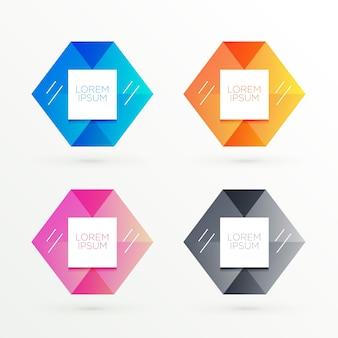 Bannières hexagonales avec espace texte