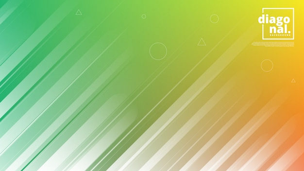 Bannières horizontales avec abstrait et formes de lignes diagonales.