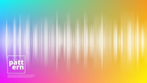 Bannières horizontales avec abstrait et formes de lignes verticales