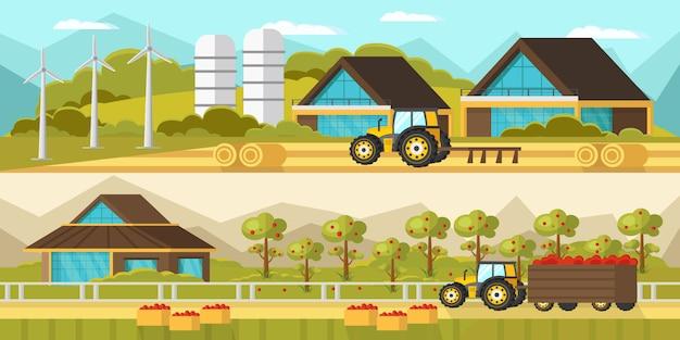 Bannières horizontales agricoles
