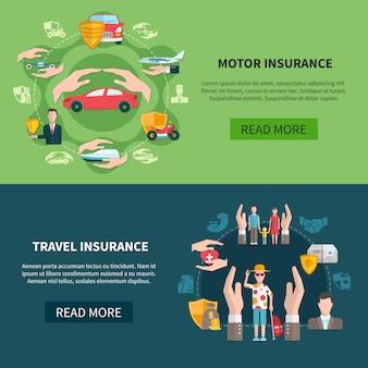 Bannières horizontales d'assurance