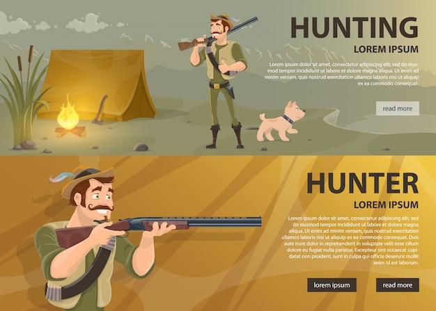 Bannières horizontales de chasse