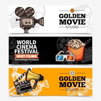 Bannières horizontales de cinéma