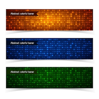 Bannières horizontales colorées abstraites