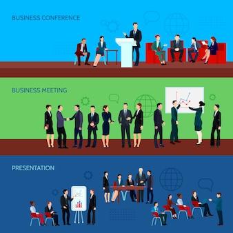 Bannières horizontales de la conférence