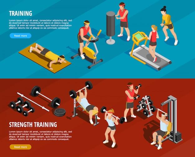 Bannières horizontales d'entraînement sportif