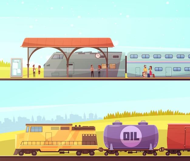 Bannières horizontales ferroviaires