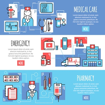 Bannières horizontales médicales