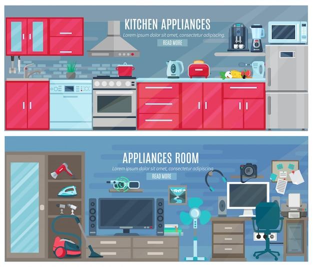 Bannières horizontales des ménages