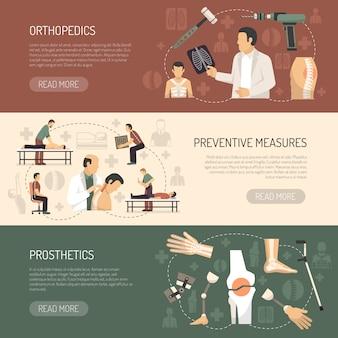 Bannières horizontales orthopédie et traumatologie