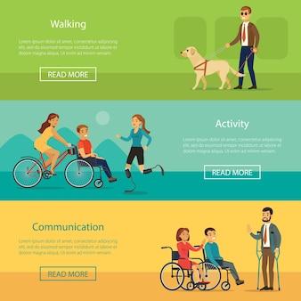 Bannières horizontales pour personnes handicapées