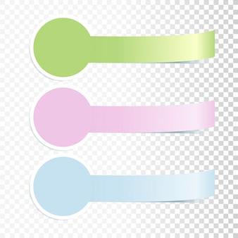 Bannières incurvées colorées