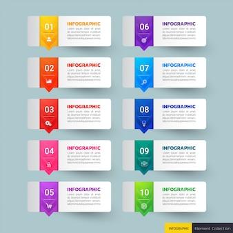 Bannières infographiques en 10 étapes